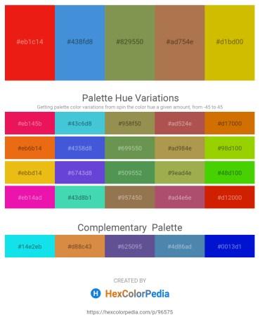 Palette image download - Crimson – Royal Blue – Dark Olive Green – Indian Red – Gold