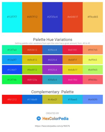 Palette image download - Aqua – Chocolate – Royal Blue – Chocolate – Sandy Brown