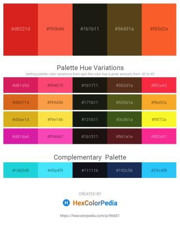 Palette image download - Crimson – Tomato – Black – Dark Olive Green – Tomato