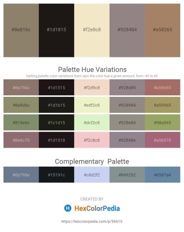 Palette image download - Gray – Black – Beige – Gray – Rosy Brown
