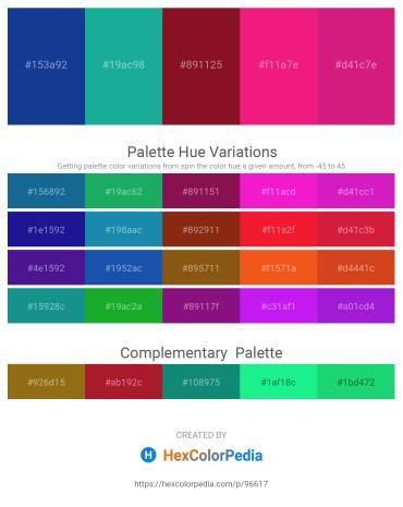 Palette image download - Midnight Blue – Light Sea Green – Orange – Deep Pink – Medium Violet Red