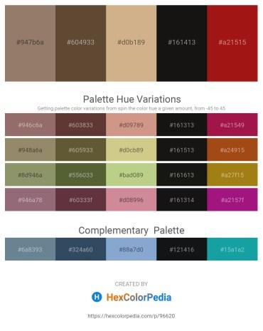 Palette image download - Gray – Black – Tan – Black – Firebrick