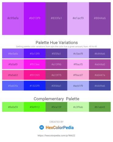 Palette image download - Medium Slate Blue – Dark Violet – Dark Slate Blue – Lavender – Dark Slate Blue