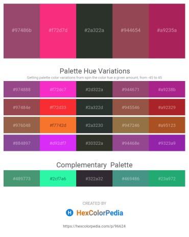 Palette image download - Indian Red – Deep Pink – Dark Slate Gray – Sienna – Brown