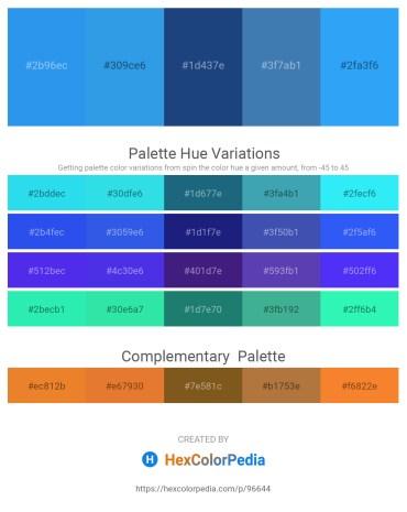 Palette image download - Dodger Blue – Royal Blue – Midnight Blue – Steel Blue – Dodger Blue