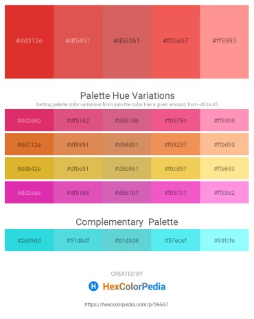 Palette image download - Crimson – Indian Red – Indian Red – Tomato – Light Salmon