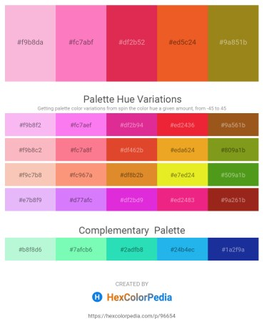 Palette image download - Pink – Hot Pink – Crimson – Chocolate – Olive Drab