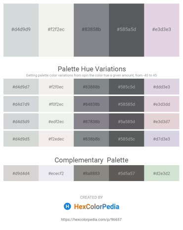 Palette image download - Light Steel Blue – White Smoke – Slate Gray – Slate Gray – Thistle