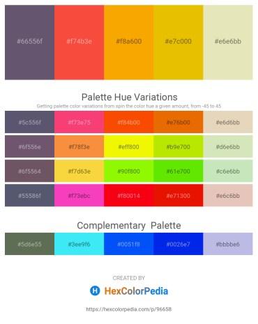 Palette image download - Dim Gray – Tomato – Orange – Gold – Beige