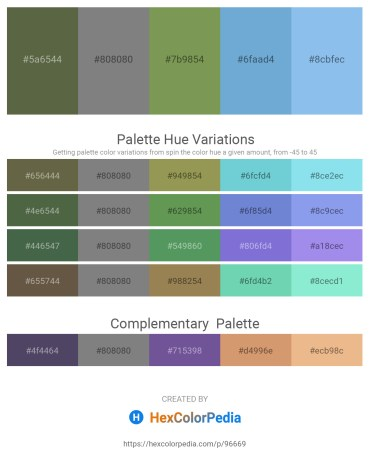 Palette image download - Dark Olive Green – Gray – Dark Olive Green – Black – Sky Blue