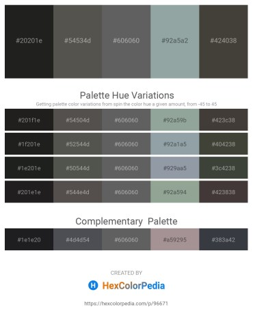 Palette image download - Black – Dim Gray – Dim Gray – Light Slate Gray – Dim Gray
