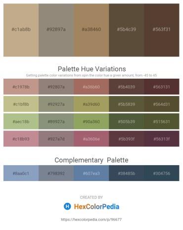 Palette image download - Rosy Brown – Gray – Dark Khaki – Black – Dark Khaki