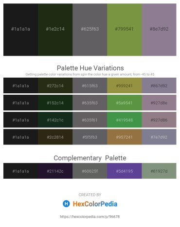 Palette image download - Black – Rosy Brown – Slate Gray – Dark Olive Green – Light Slate Gray