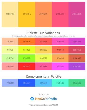 Palette image download - Navajo White – Gold – Coral – Salmon – Pale Violet Red