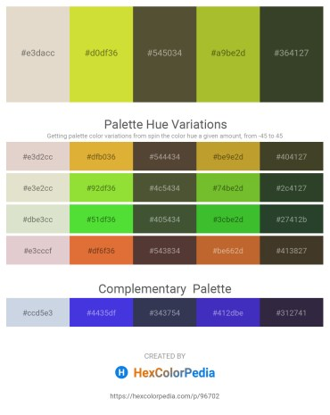 Palette image download - Beige – Gray – Dark Olive Green – Yellow Green – Dark Olive Green