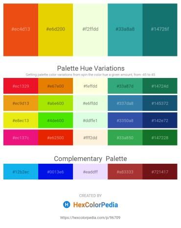 Palette image download - Chocolate – Gold – Light Yellow – Light Sea Green – Sea Green
