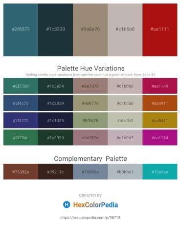 Palette image download - Dark Slate Gray – Dark Slate Gray – Gray – Silver – Firebrick