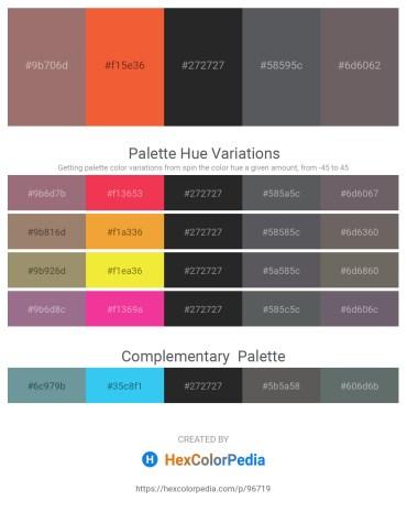 Palette image download - Gray – Tomato – Black – Slate Gray – Dim Gray