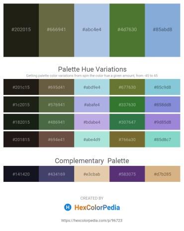 Palette image download - Black – Dark Olive Green – Light Blue – Dark Olive Green – Light Steel Blue