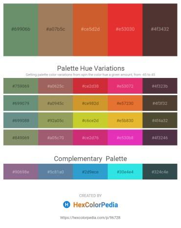 Palette image download - Cadet Blue – Rosy Brown – Chocolate – Crimson – Cadet Blue