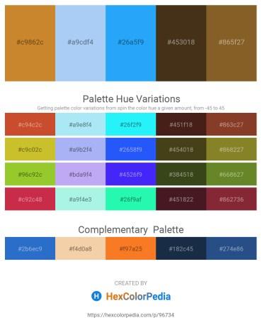 Palette image download - Peru – Sky Blue – Dodger Blue – Goldenrod – Sienna