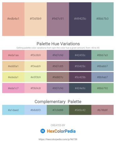 Palette image download - Dark Salmon – Wheat – Gray – Orange – Dark Sea Green
