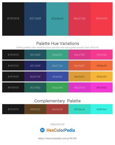 Palette image download - Black – Midnight Blue – Black – Crimson – Tomato