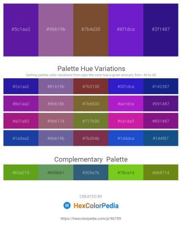 Palette image download - Blue Violet – Tomato – Sienna – Blue Violet – Midnight Blue