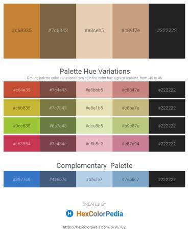 Palette image download - Peru – Dark Olive Green – Pale Goldenrod – Tan – Black
