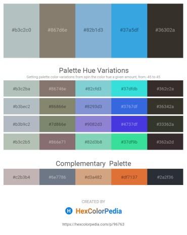 Palette image download - Dark Sea Green – Gray – Light Steel Blue – Dim Gray – Black