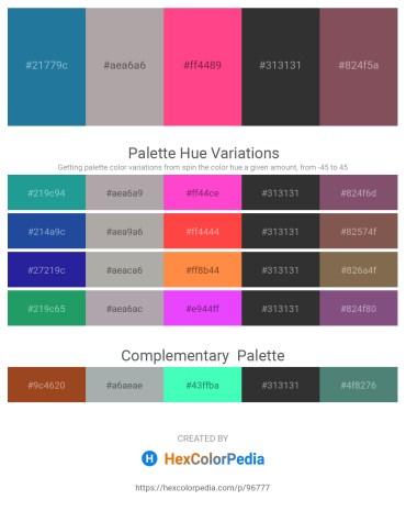 Palette image download - Forest Green – Dark Gray – Deep Pink – Black – Burlywood