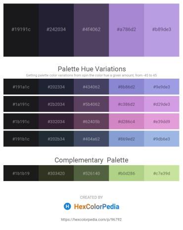 Palette image download - Black – Dark Slate Gray – Dark Slate Blue – Medium Purple – Medium Purple