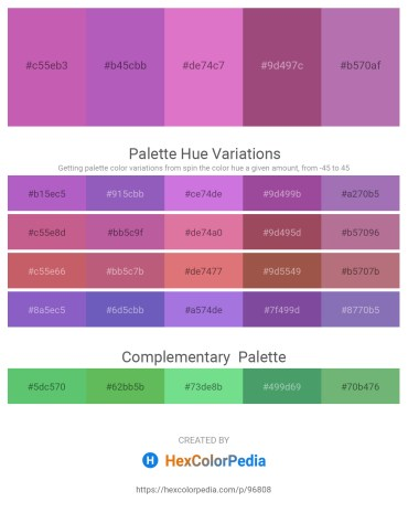 Palette image download - Orchid – Medium Orchid – Orchid – Rosy Brown – Rosy Brown