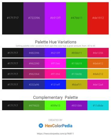 Palette image download - Black – Dark Orchid – Dark Violet – Lime Green – Crimson