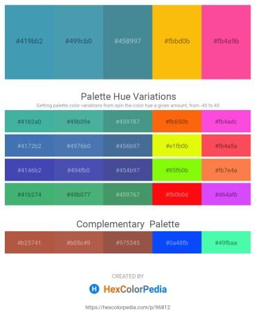 Palette image download - Steel Blue – Steel Blue – Steel Blue – Orange – Hot Pink