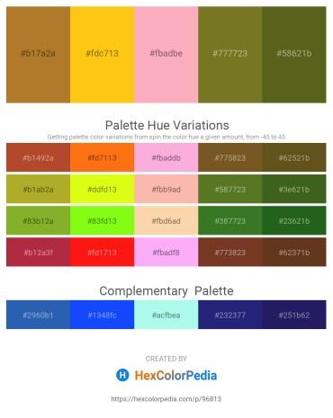 Palette image download - Sienna – Gold – Light Pink – Olive Drab – Olive Drab