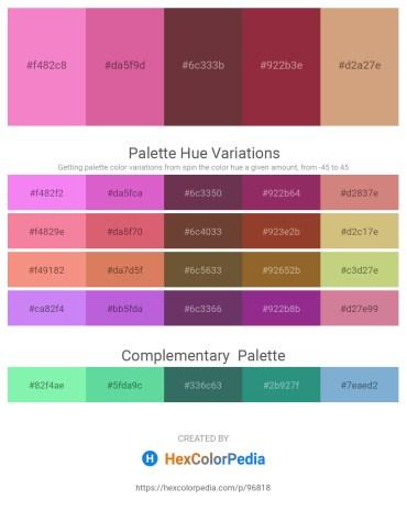 Palette image download - Violet – Pale Violet Red – Indian Red – Brown – Tan