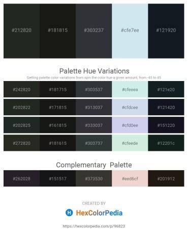 Palette image download - Dark Slate Gray – Black – Dark Slate Gray – Powder Blue – Dark Olive Green