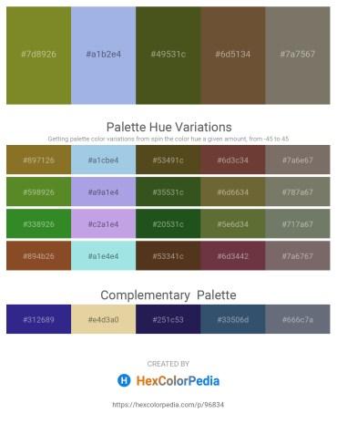 Palette image download - Olive Drab – Light Blue – Dark Olive Green – Dim Gray – Dim Gray
