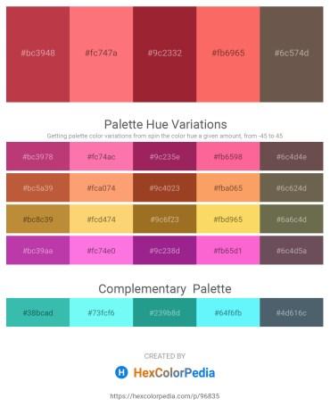 Palette image download - Brown – Salmon – Brown – Salmon – Dim Gray