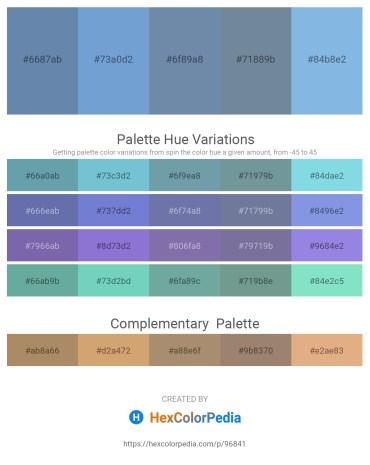 Palette image download - Cadet Blue – Dark Slate Gray – Light Slate Gray – Light Slate Gray – Sky Blue