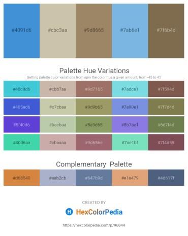 Palette image download - Royal Blue – Tan – Rosy Brown – Sky Blue – Dark Olive Green