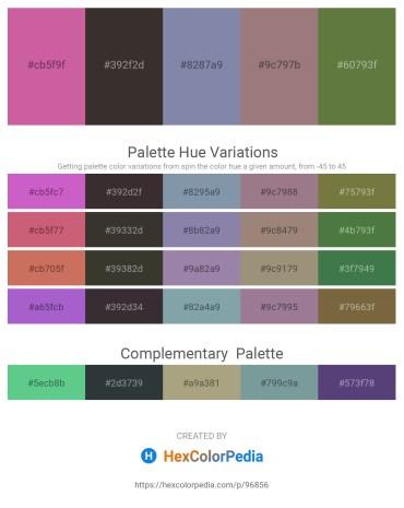 Palette image download - Pale Violet Red – Black – Light Slate Gray – Gray – Dark Olive Green