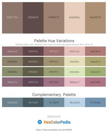 Palette image download - Gray – Dim Gray – Rosy Brown – Tan – Rosy Brown