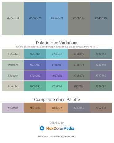 Palette image download - Dark Sea Green – Steel Blue – Violet – Gray – Slate Gray
