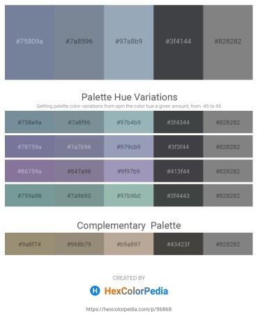 Palette image download - Light Slate Gray – Light Slate Gray – Light Slate Gray – Dark Slate Gray – Gray
