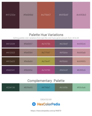 Palette image download - Midnight Blue – Gray – Sienna – Slate Gray – Rosy Brown