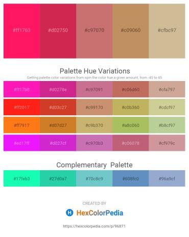 Palette image download - Deep Pink – Crimson – Indian Red – Dark Khaki – Tan