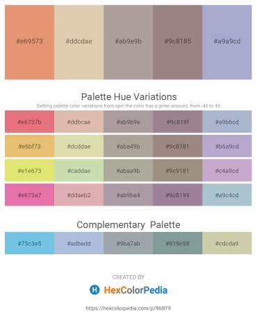 Palette image download - Dark Salmon – Tan – Dark Gray – Gray – Light Steel Blue