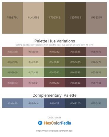 Palette image download - Rosy Brown – Rosy Brown – Dark Olive Green – Dark Olive Green – Gray